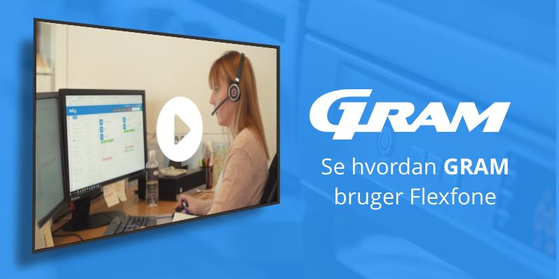 Gram styrer deres internationale opkald med Flexfone