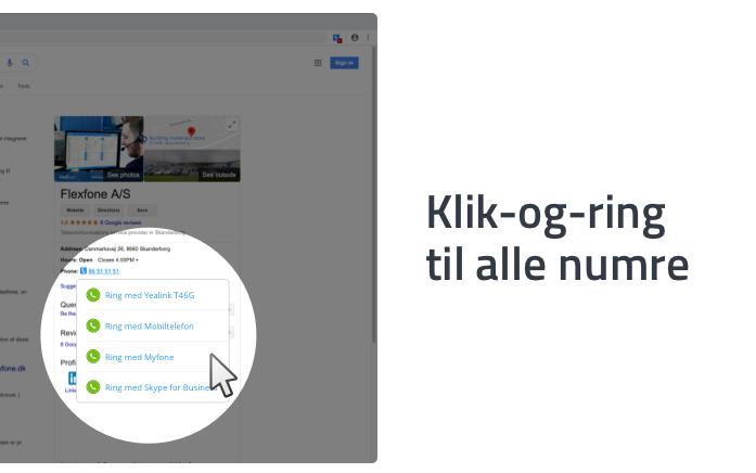 Klik og ring og til alle numre på websites med Myfone-udvidelsen til Chrome