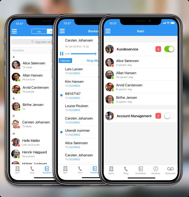 Proppet med erhvervstelefoni-funktionalitet - Myfone app'en