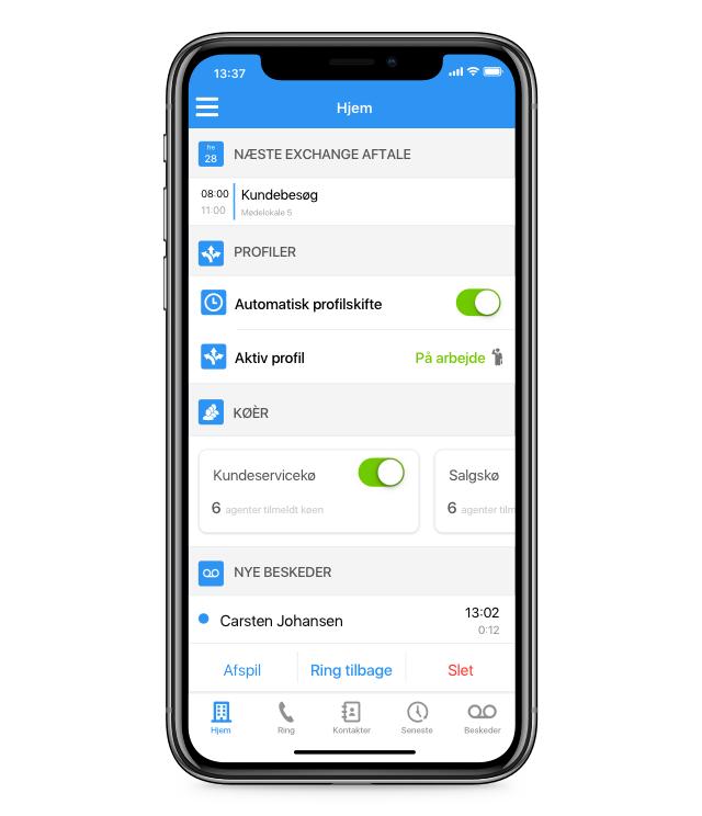 Virksomhedstelefoni app'en - Myfone